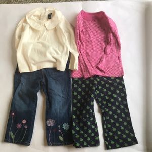 Lot 4 pieces toddler girls clothes.